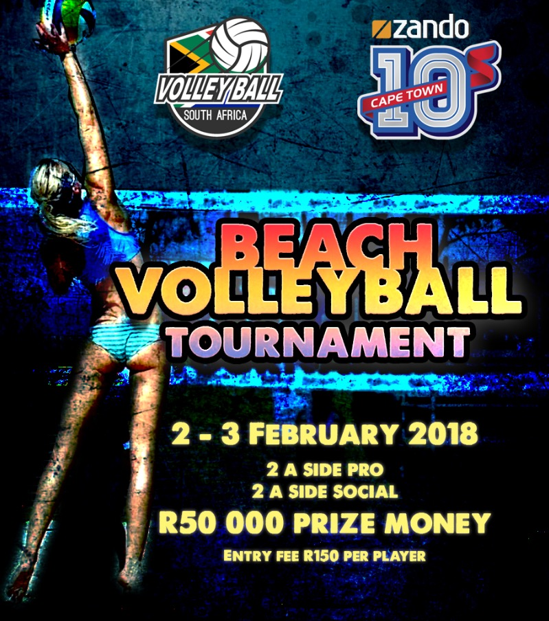 beach volleyball tournament cape town