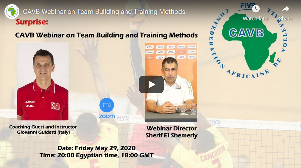 CAVB Webinar on Team Building and Training Methods